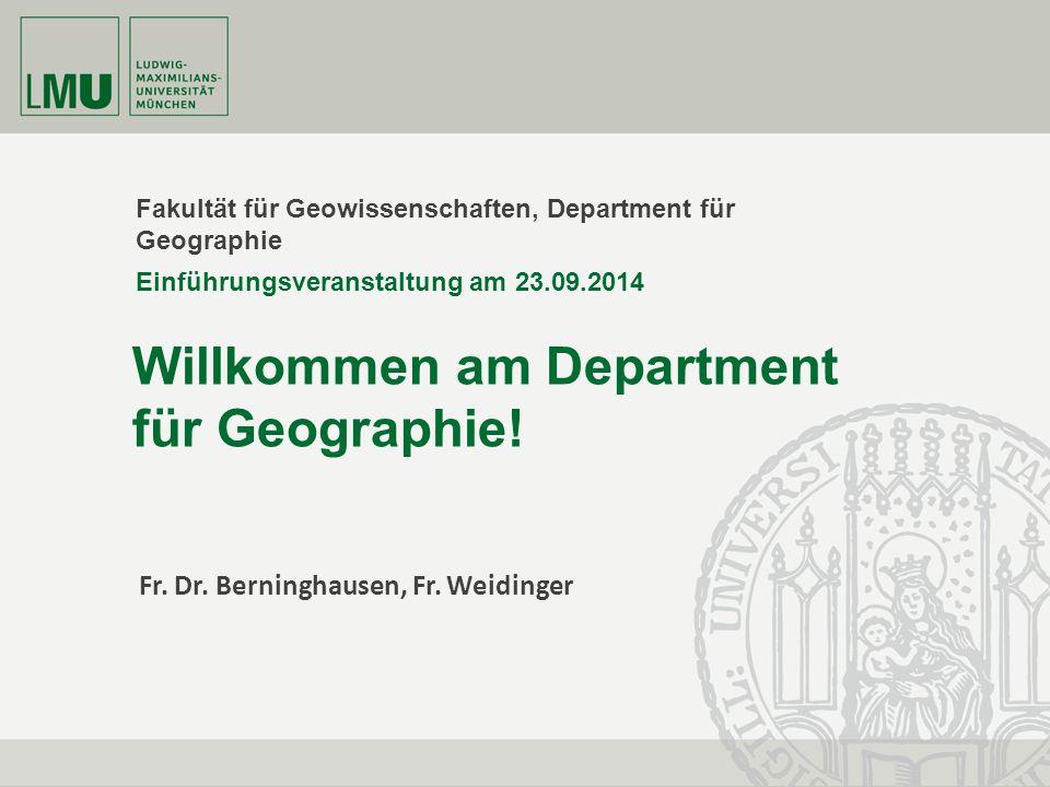Willkommen am Department für Geographie!