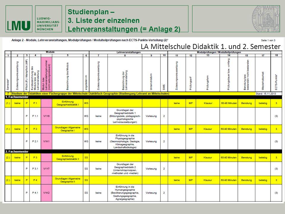 LA Mittelschule Didaktik 1. und 2. Semester