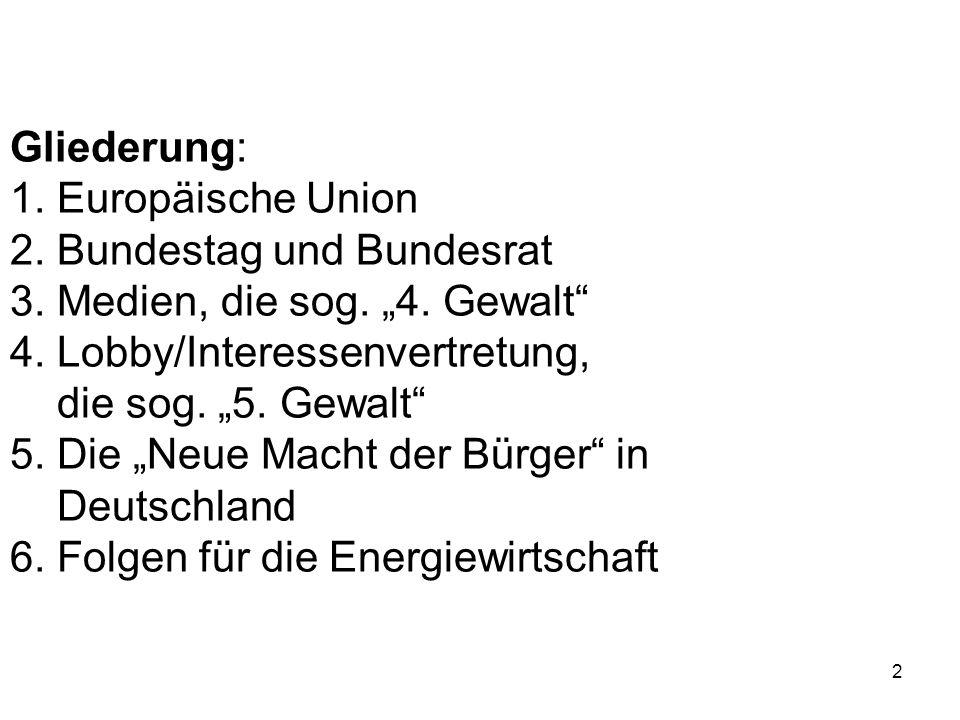 lobbying in deutschland