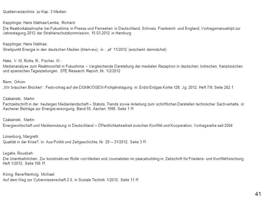 Quellenverzeichnis zu Kap