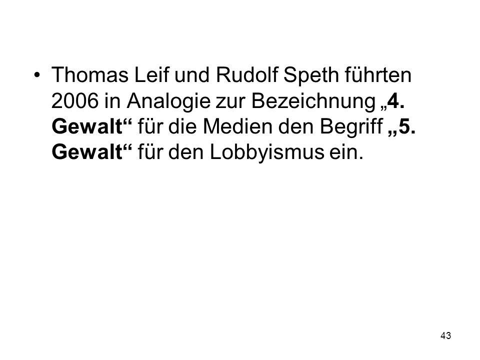 """Thomas Leif und Rudolf Speth führten 2006 in Analogie zur Bezeichnung """"4."""