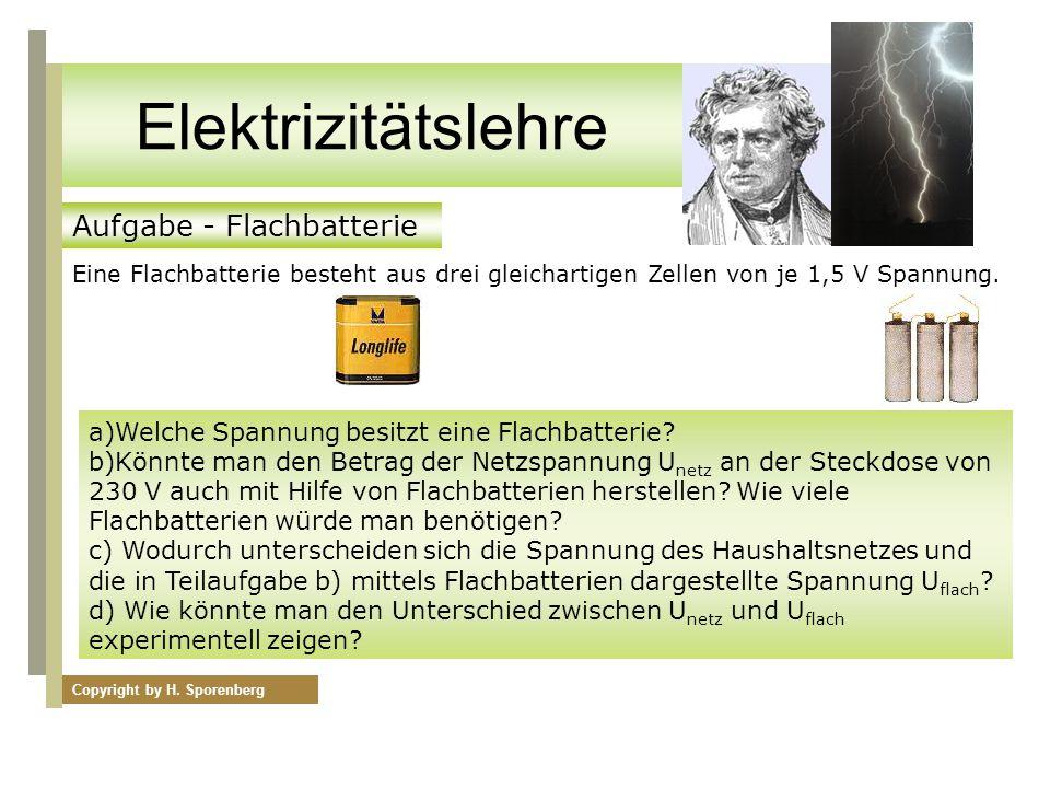 Elektrizitätslehre Aufgabe - Flachbatterie