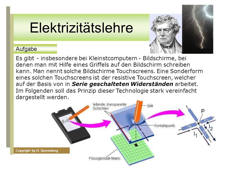 Elektrizitätslehre Aufgabe