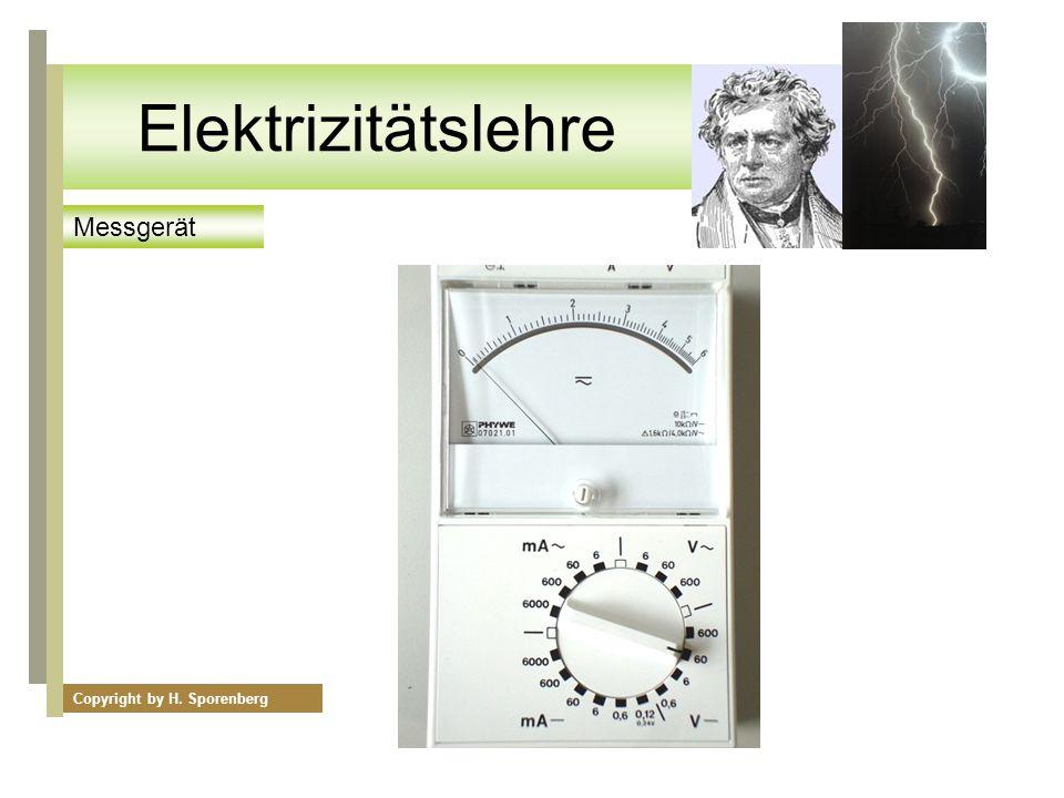Elektrizitätslehre Messgerät