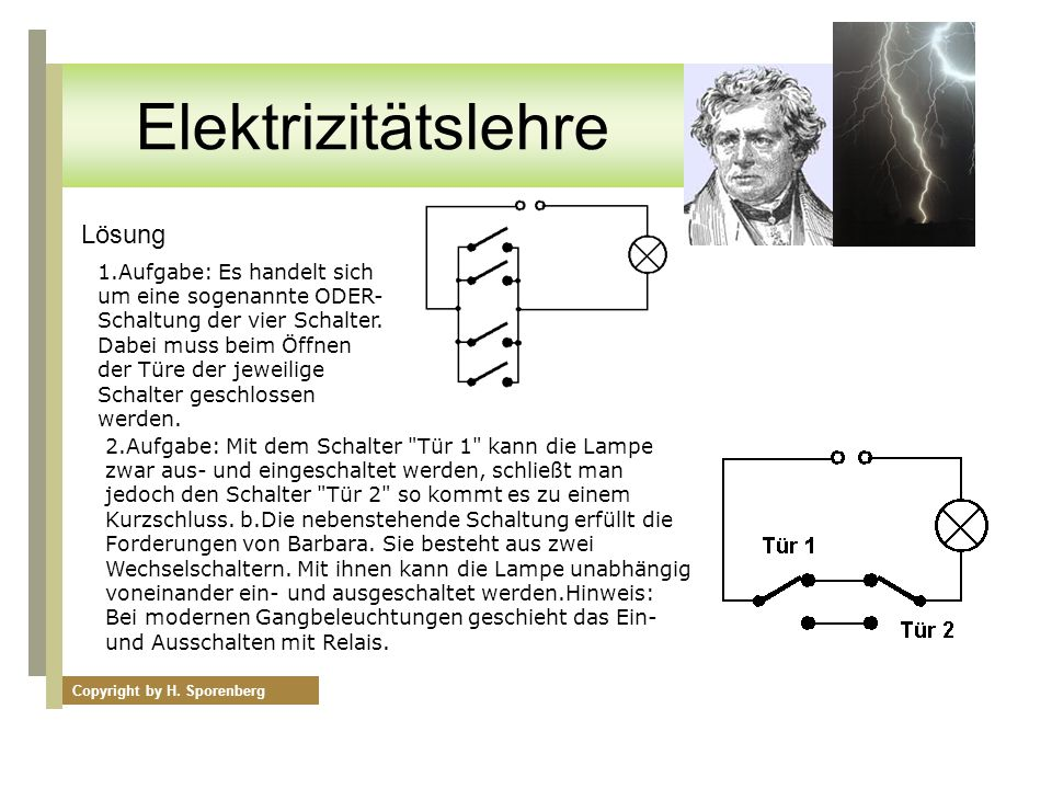 Elektrizitätslehre Lösung