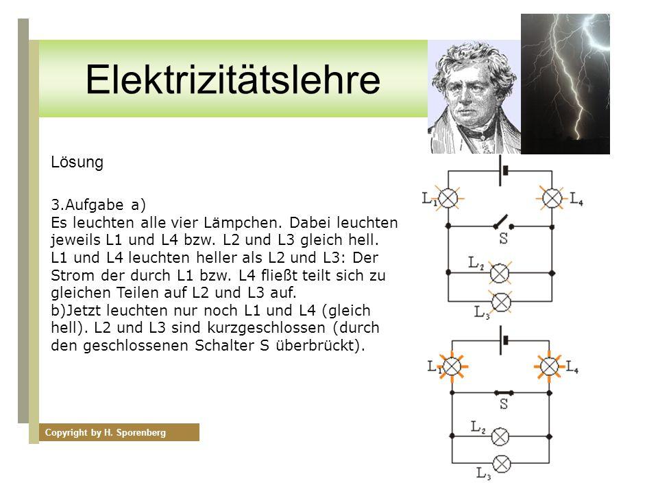 Elektrizitätslehre Lösung 3.Aufgabe a)