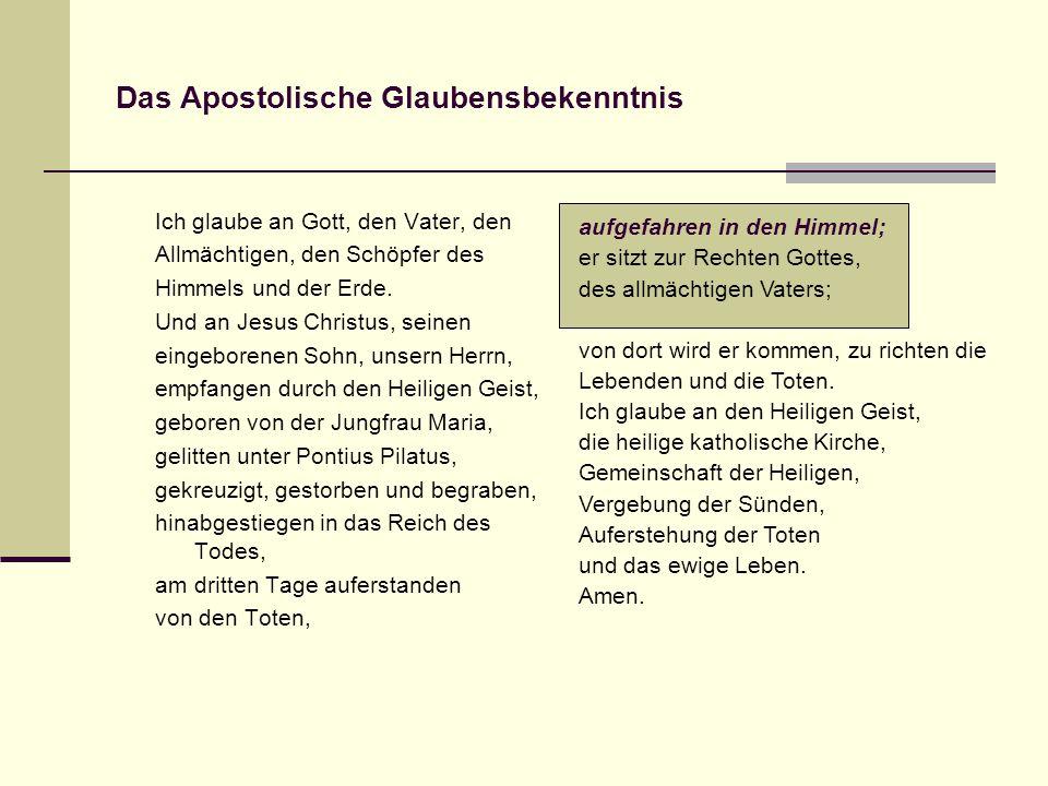 Das Apostolische Glaubensbekenntnis