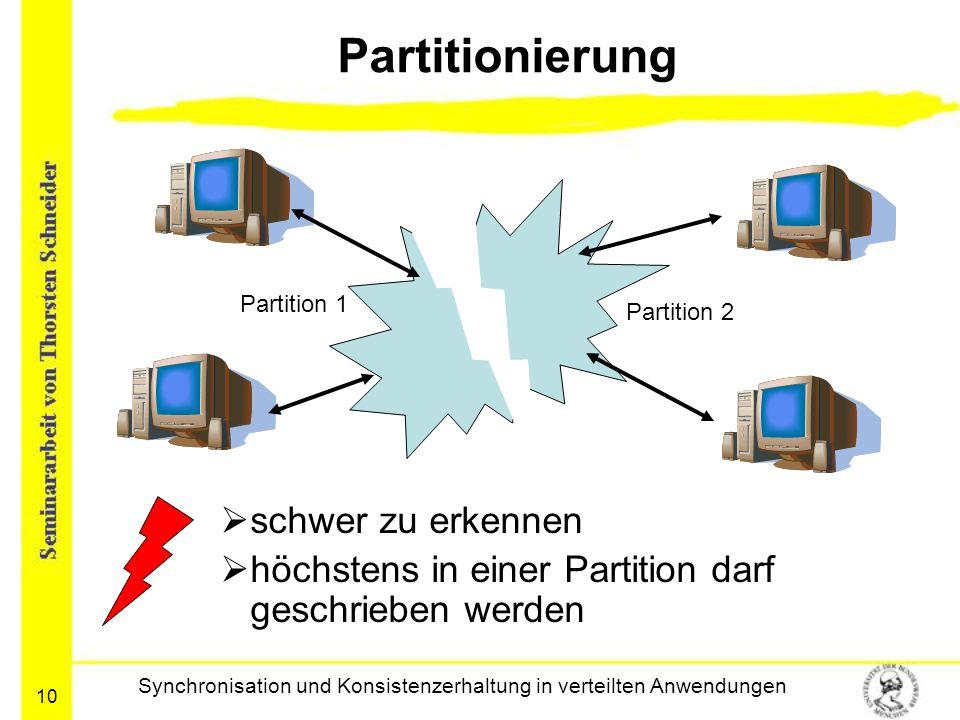Synchronisation und Konsistenzerhaltung in verteilten Anwendungen