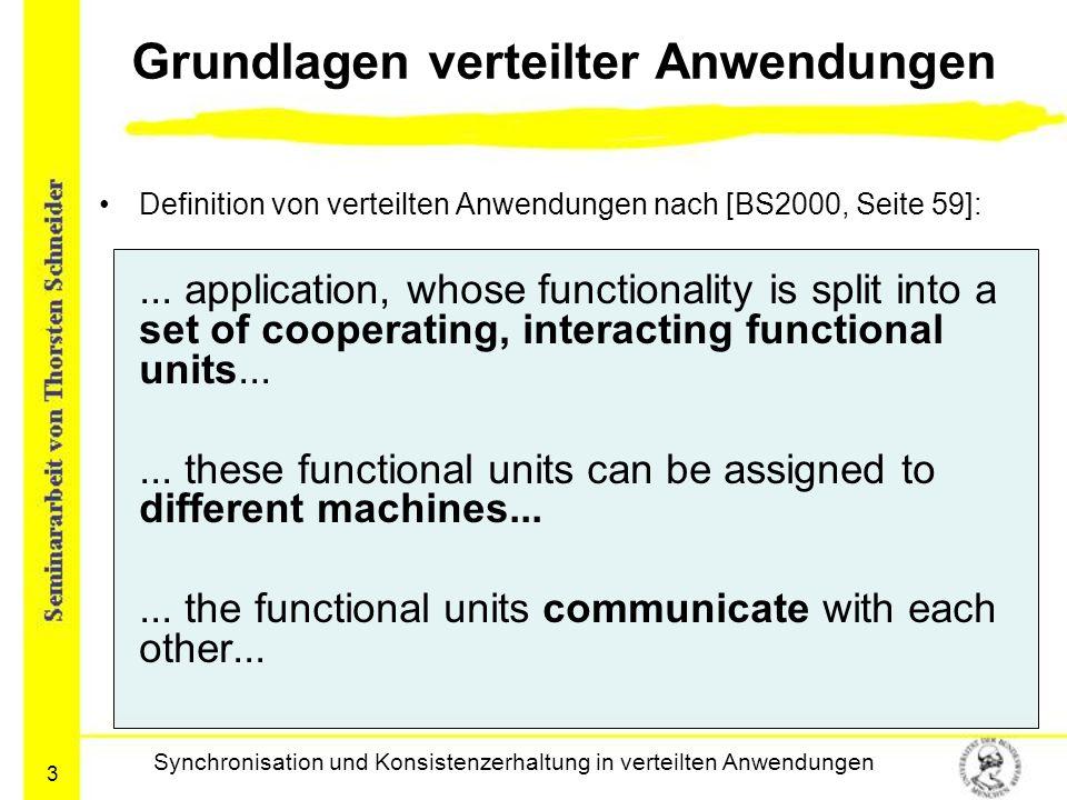 Grundlagen verteilter Anwendungen
