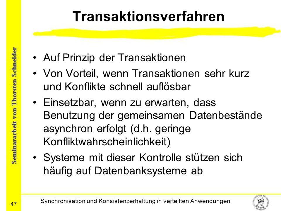 Transaktionsverfahren
