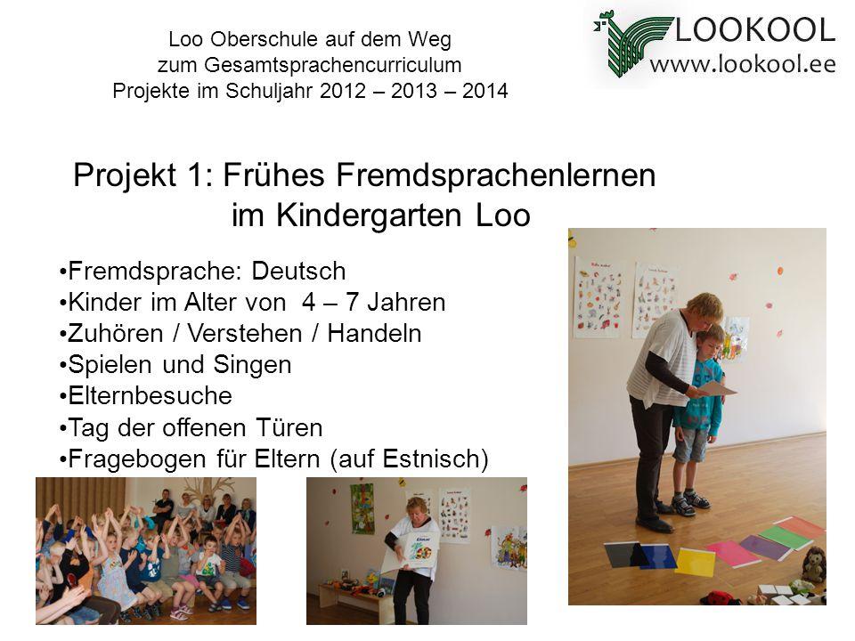 Projekt 1: Frühes Fremdsprachenlernen im Kindergarten Loo