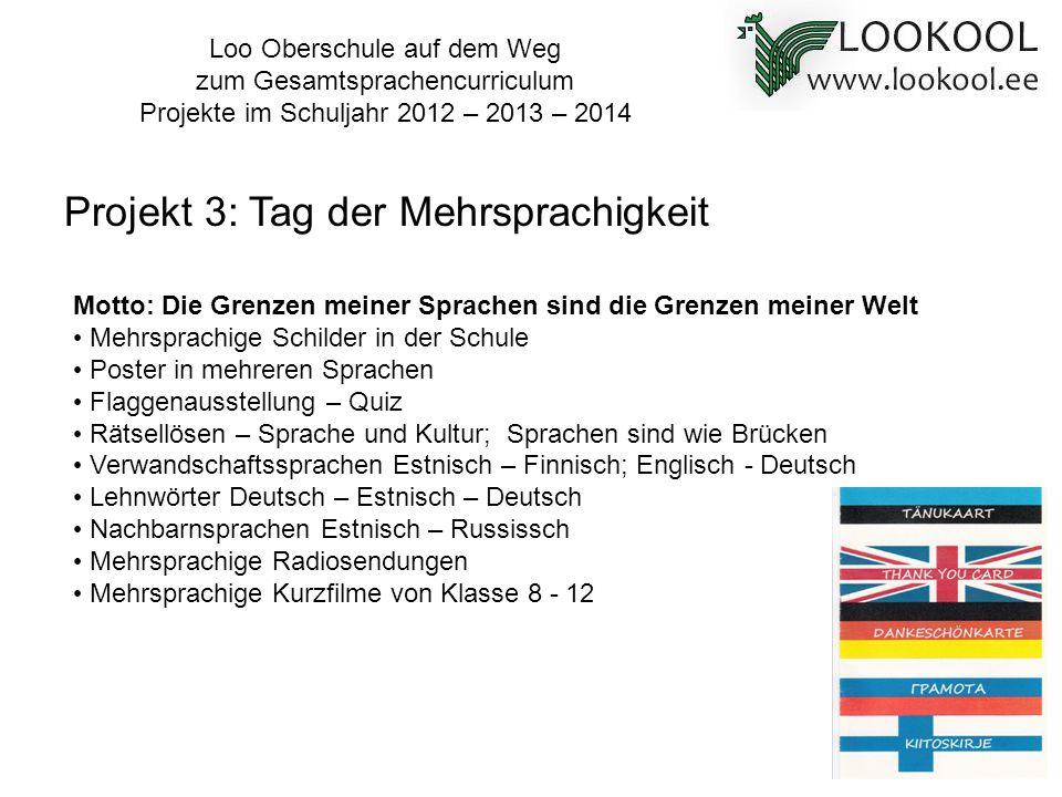 Projekt 3: Tag der Mehrsprachigkeit