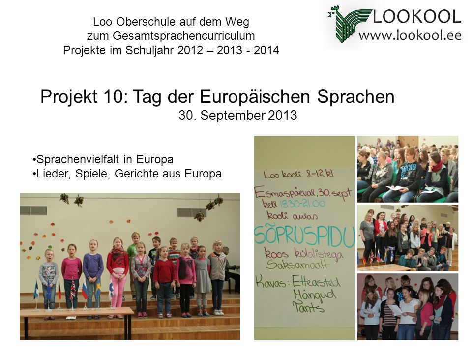 Projekt 10: Tag der Europäischen Sprachen