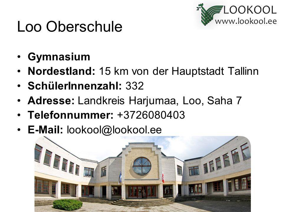 Loo Oberschule Gymnasium Nordestland: 15 km von der Hauptstadt Tallinn