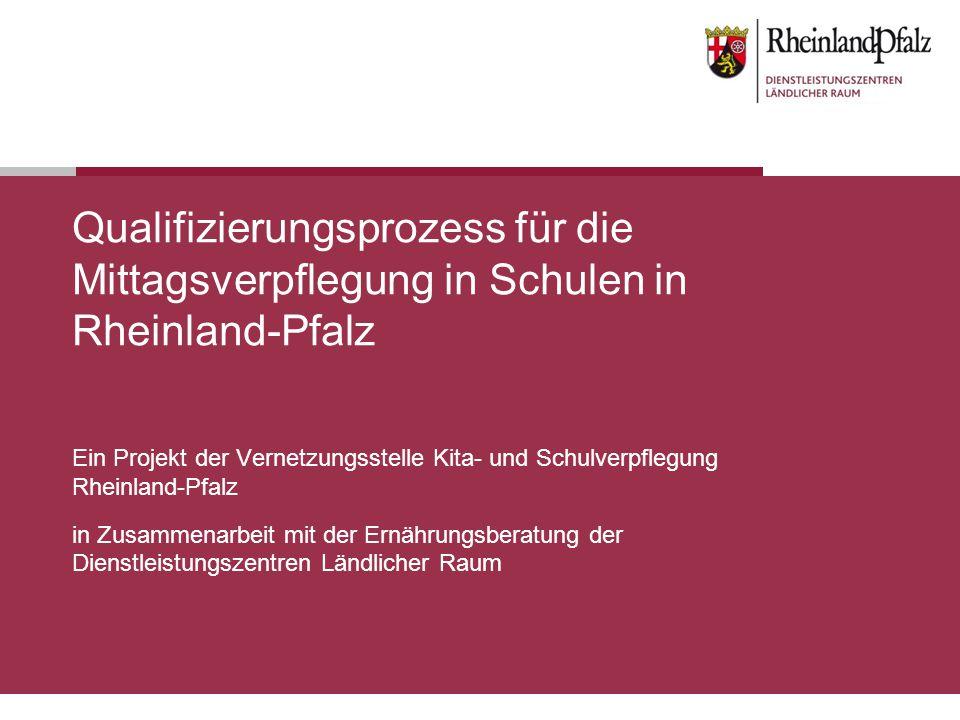 Qualifizierungsprozess für die Mittagsverpflegung in Schulen in Rheinland-Pfalz