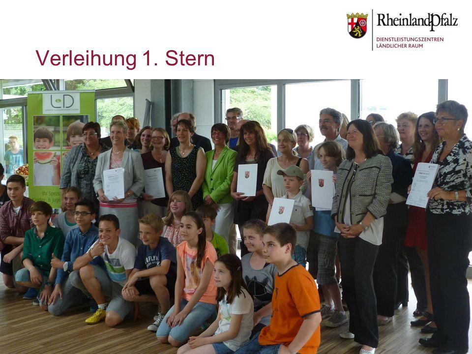 Verleihung 1. Stern