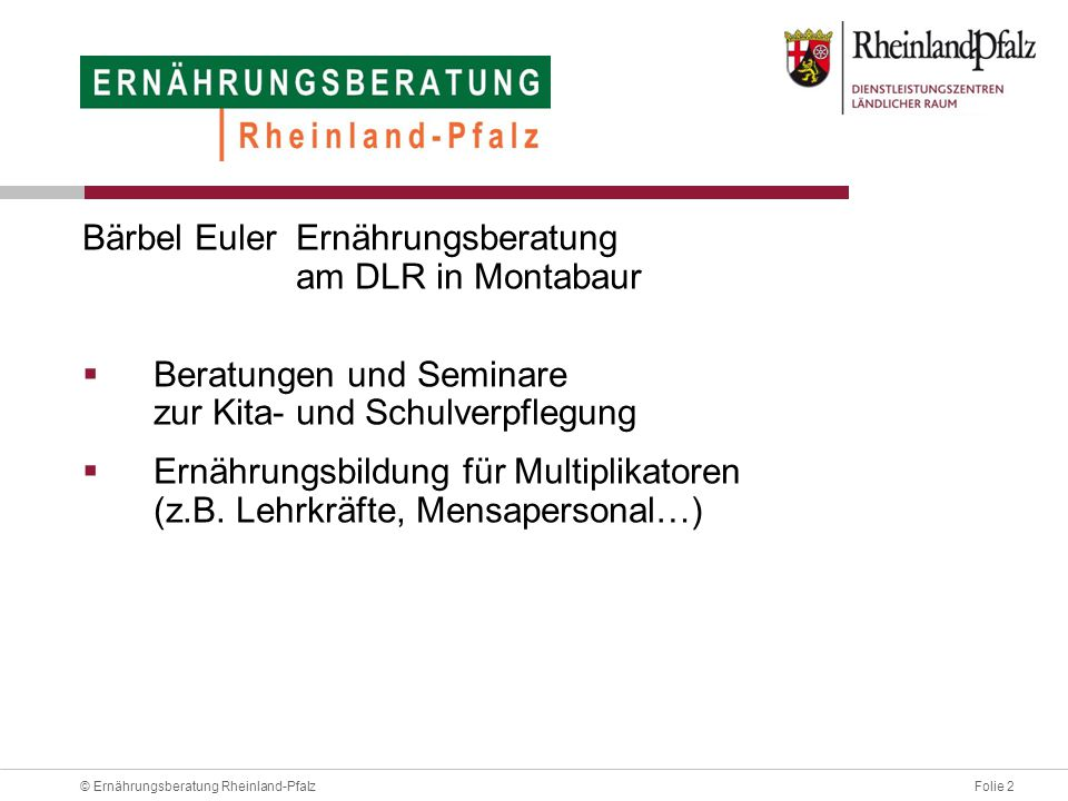 Bärbel Euler Ernährungsberatung am DLR in Montabaur