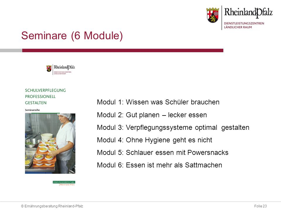 Seminare (6 Module) Modul 1: Wissen was Schüler brauchen