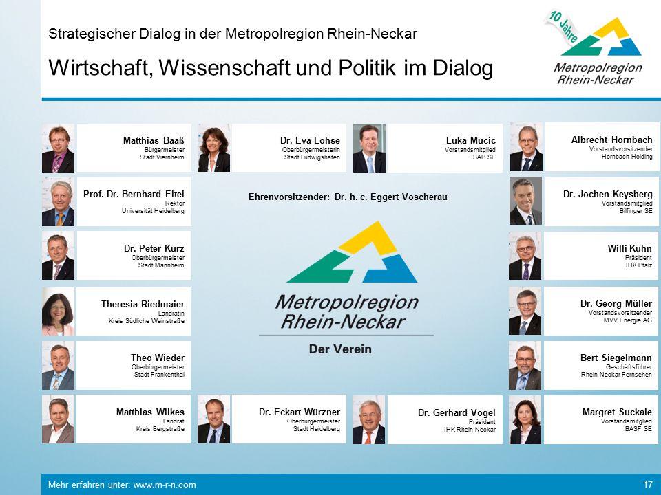 Strategischer Dialog in der Metropolregion Rhein-Neckar