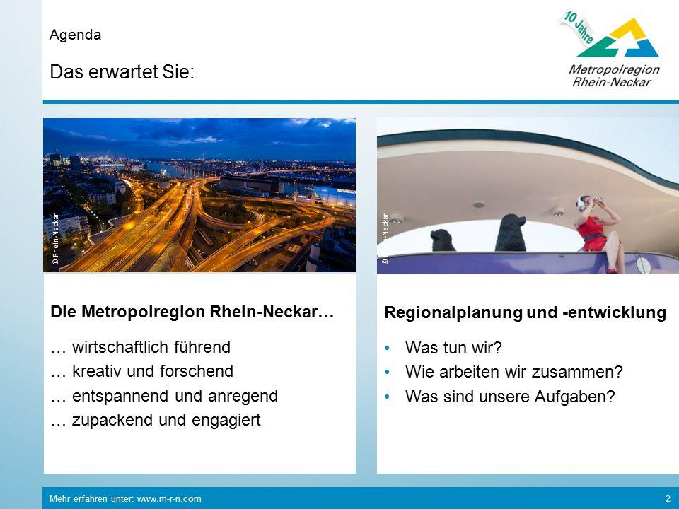 Das erwartet Sie: Die Metropolregion Rhein-Neckar…