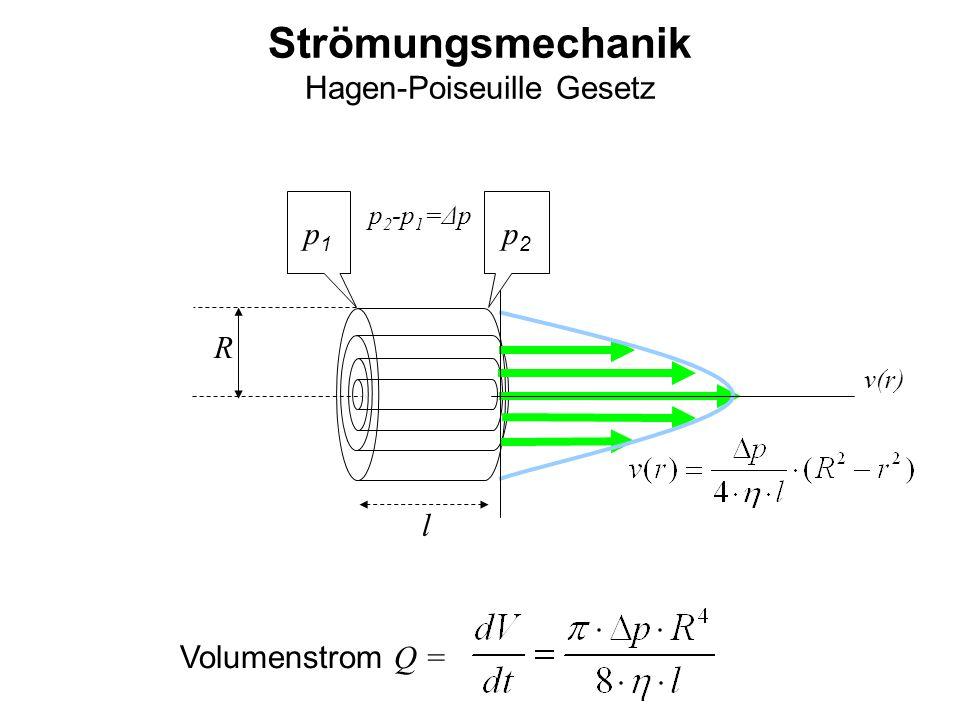Strömungsmechanik Hagen-Poiseuille Gesetz