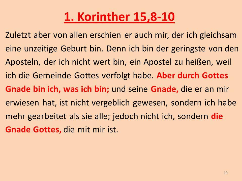 1. Korinther 15,8-10