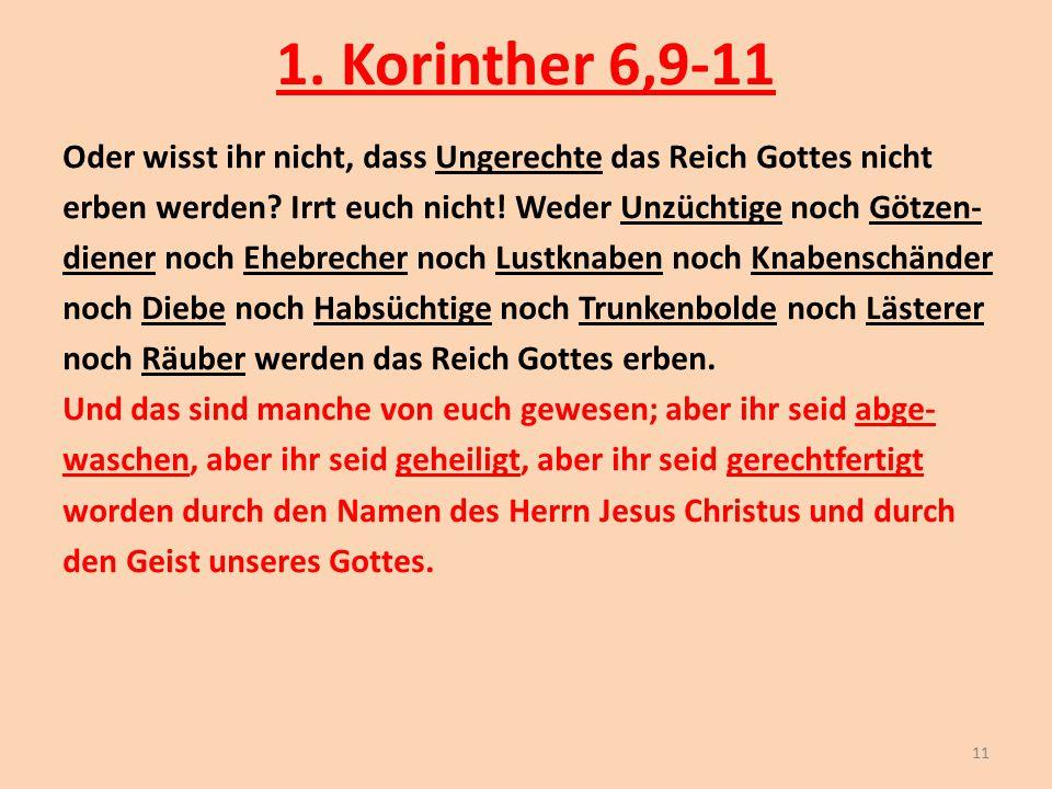 1. Korinther 6,9-11