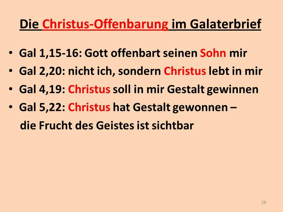 Die Christus-Offenbarung im Galaterbrief