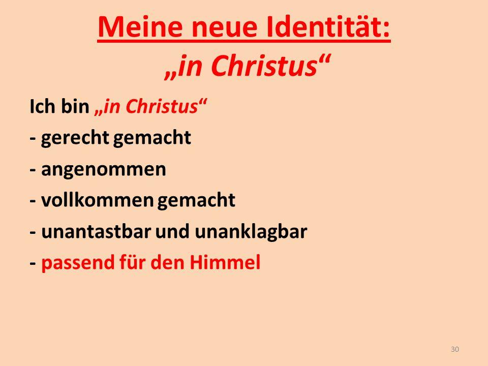 """Meine neue Identität: """"in Christus"""