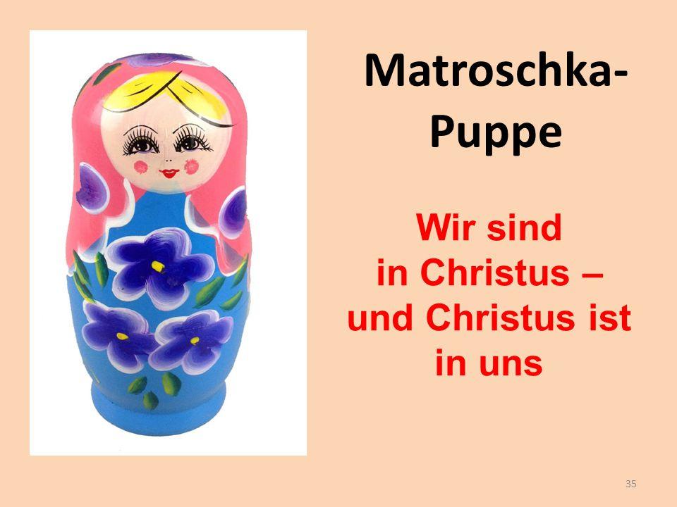 Matroschka- Puppe Wir sind in Christus – und Christus ist in uns