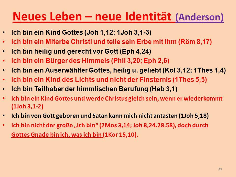 Neues Leben – neue Identität (Anderson)