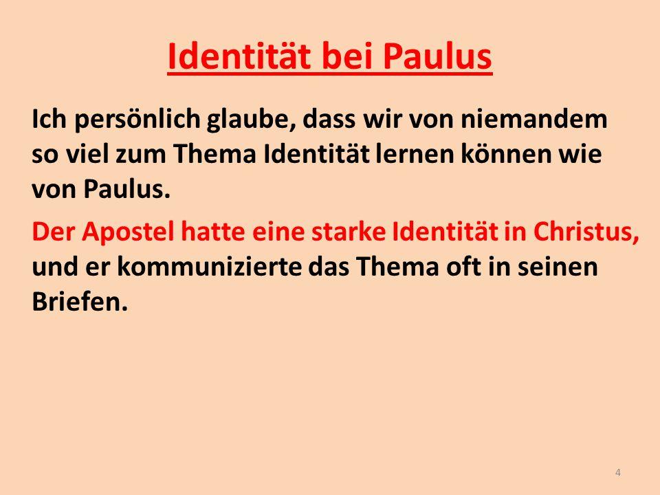 Identität bei Paulus