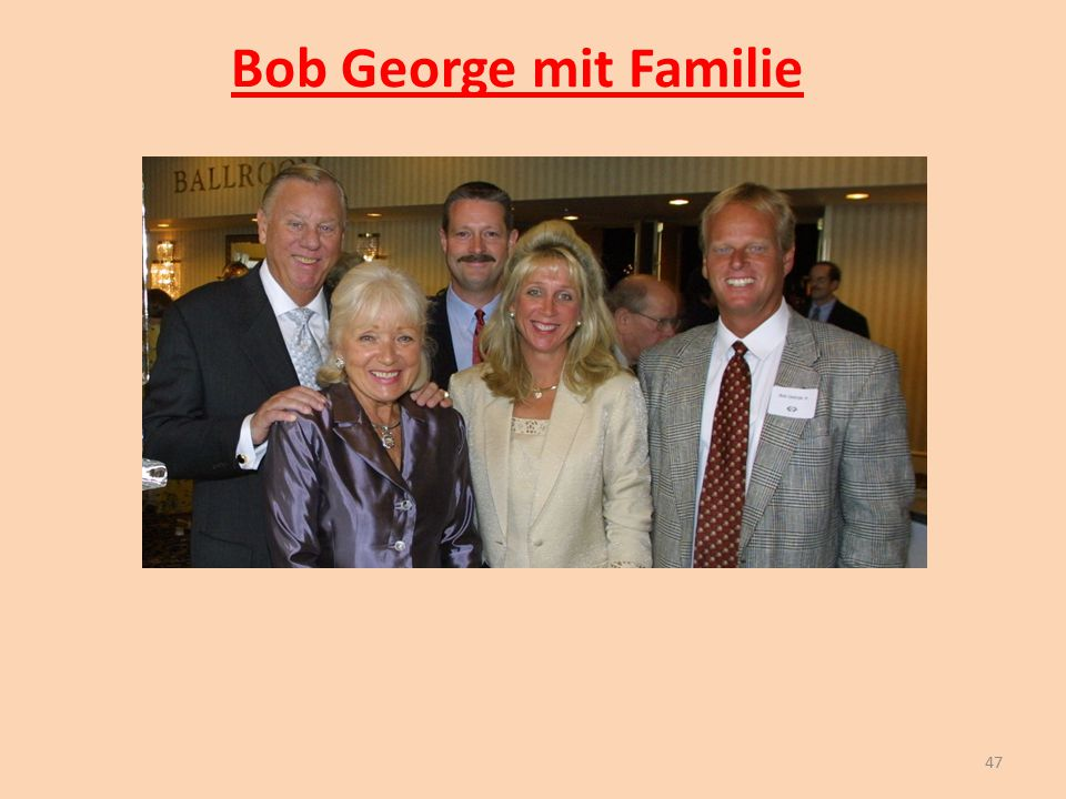 Bob George mit Familie