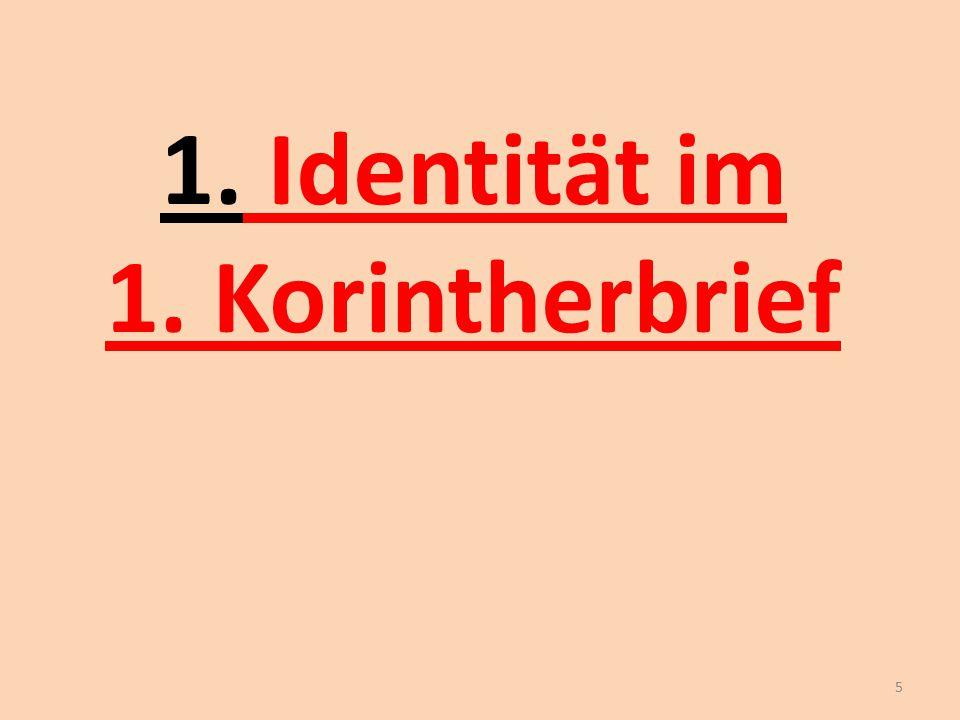 1. Identität im 1. Korintherbrief