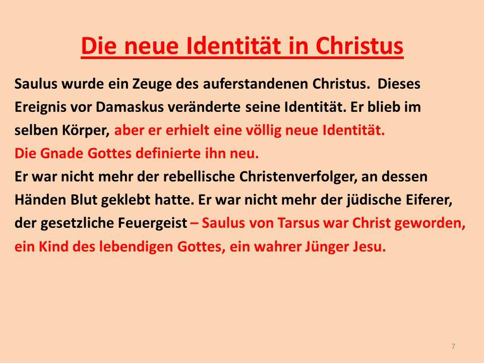 Die neue Identität in Christus