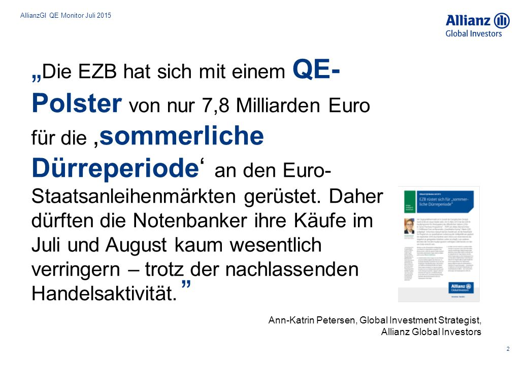 AllianzGI QE Monitor Juli 2015