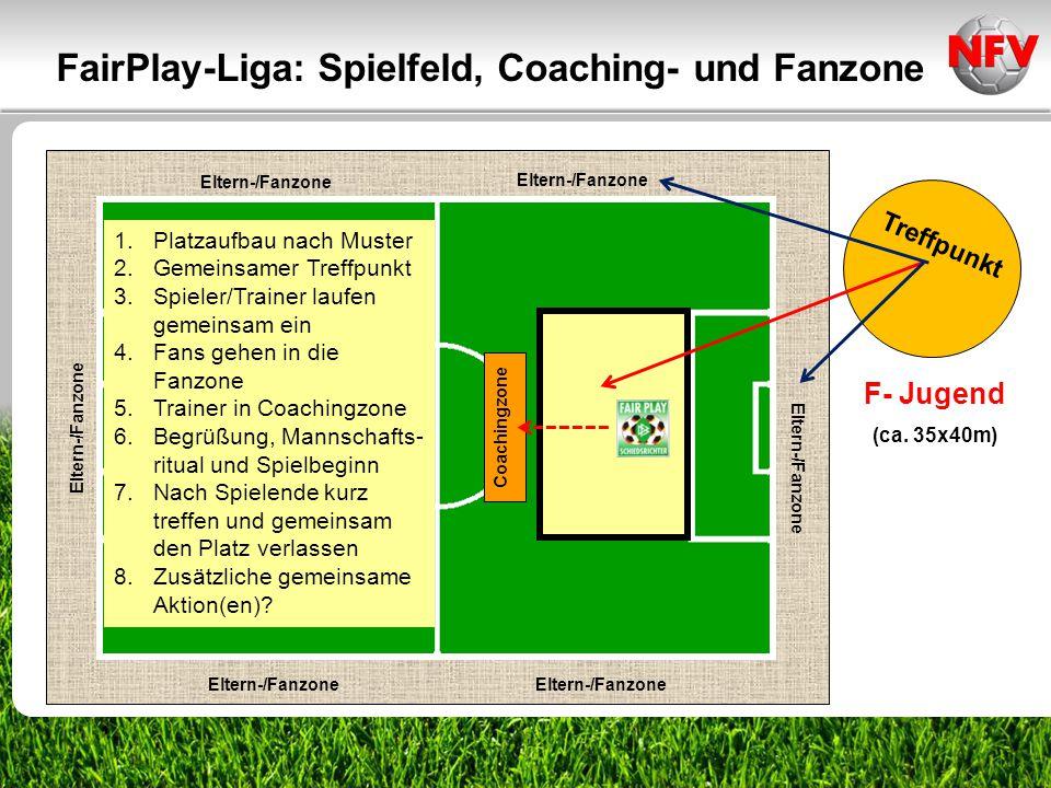 FairPlay-Liga: Spielfeld, Coaching- und Fanzone