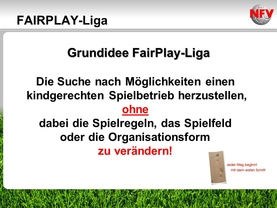 Grundidee FairPlay-Liga