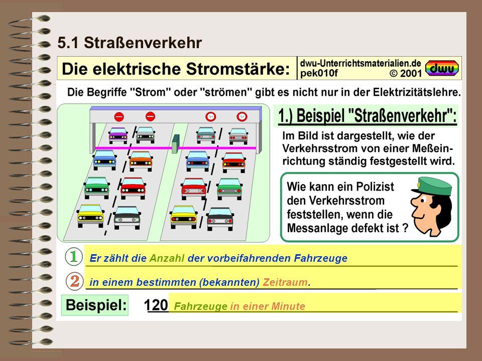 5.1 Straßenverkehr Er zählt die Anzahl der vorbeifahrenden Fahrzeuge
