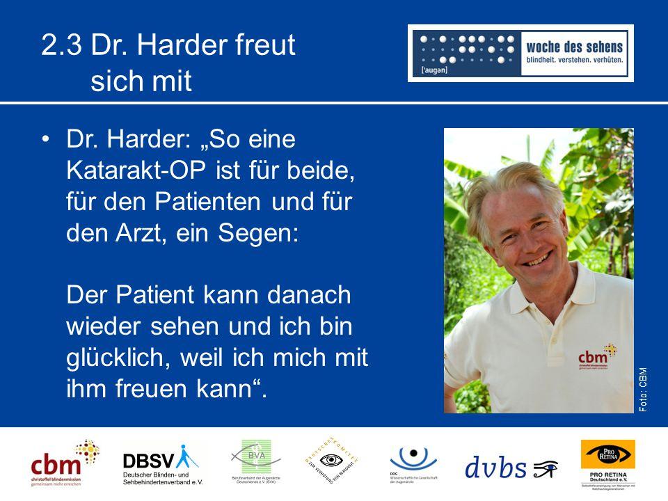 2.3 Dr. Harder freut sich mit