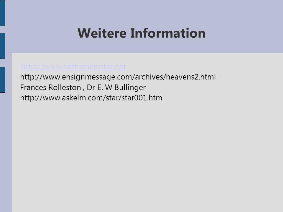 Weitere Information Http://www.bethlehemstar.net