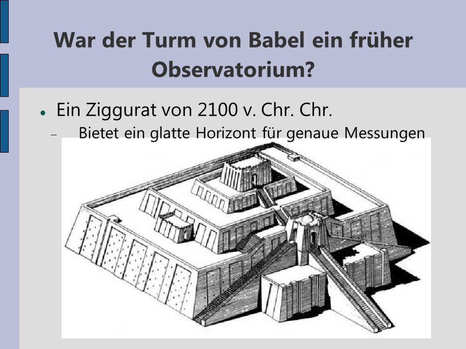 War der Turm von Babel ein früher Observatorium