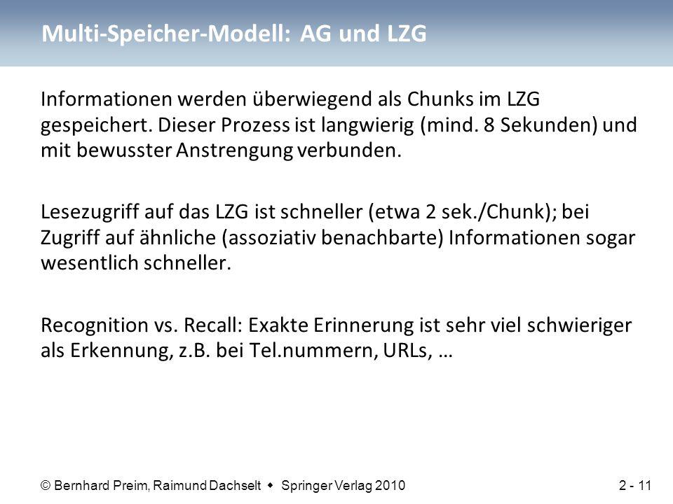 Multi-Speicher-Modell: AG und LZG