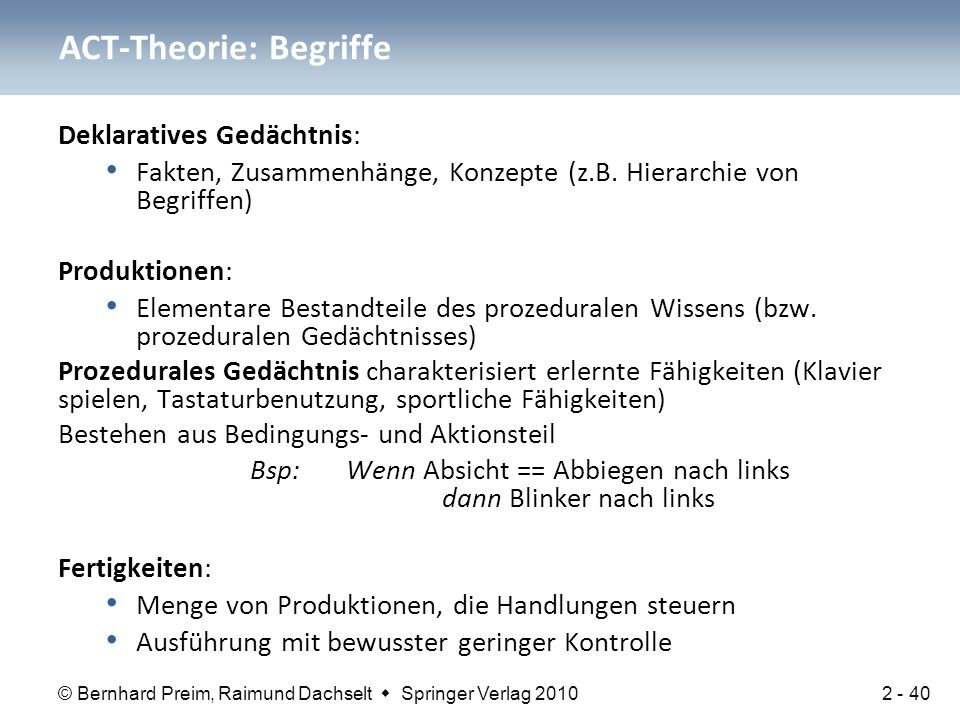 ACT-Theorie: Begriffe