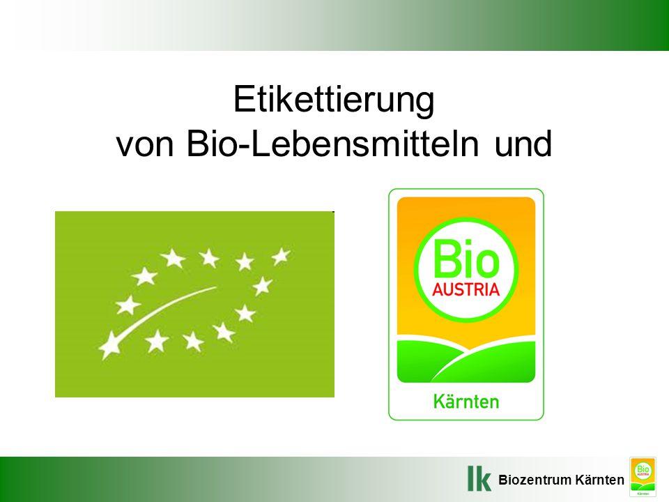 Etikettierung von Bio-Lebensmitteln und