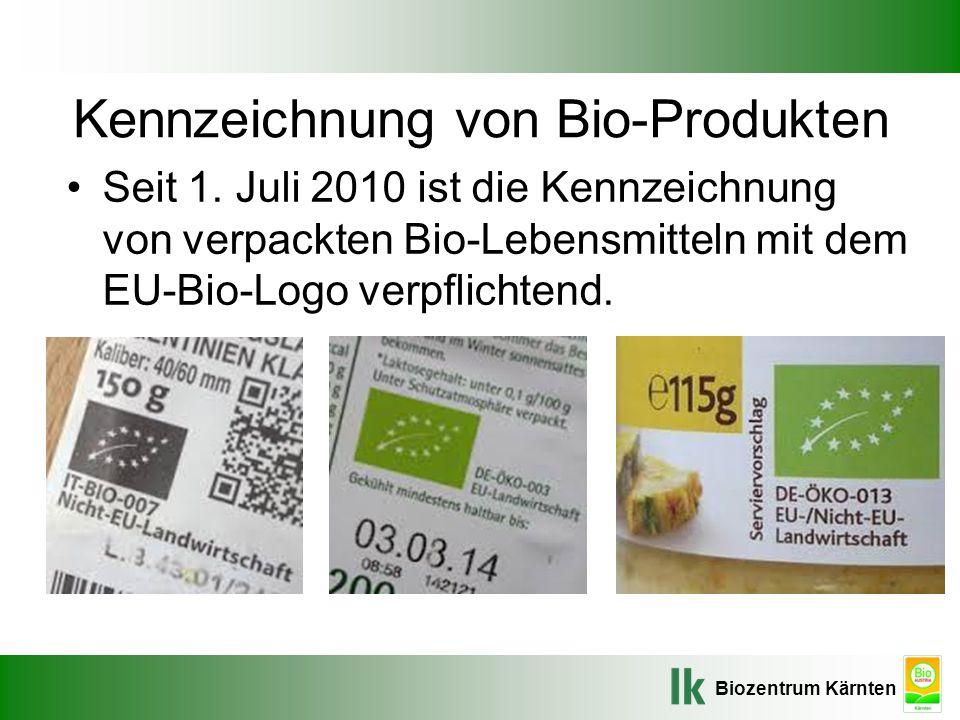 Kennzeichnung von Bio-Produkten