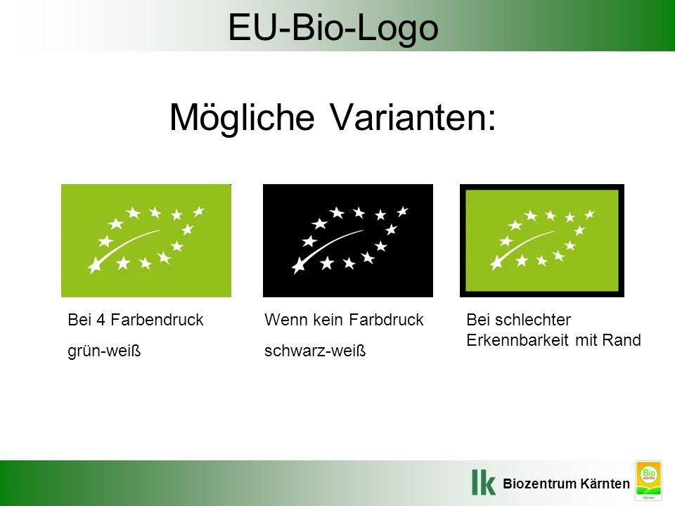 EU-Bio-Logo Mögliche Varianten: