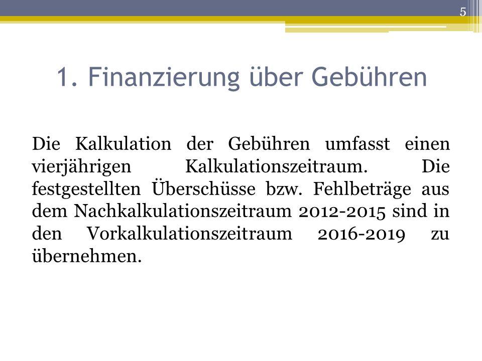 1. Finanzierung über Gebühren