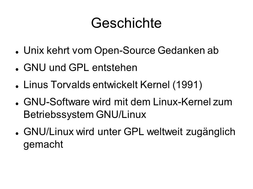 Geschichte Unix kehrt vom Open-Source Gedanken ab