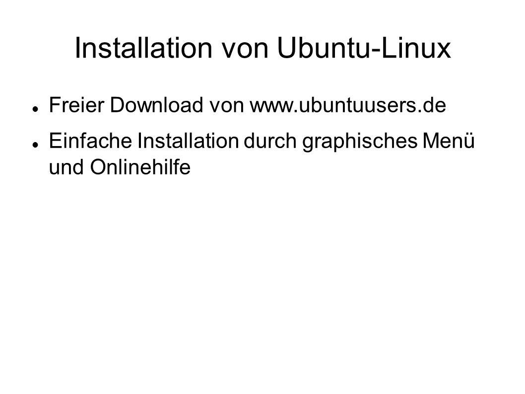 Installation von Ubuntu-Linux